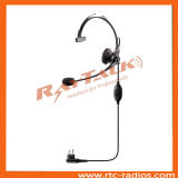 Over The Head Headset with Noise-Cancelling Boom Microphone and Earphone