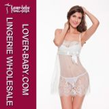 Woman Hot White Chemise Lingerie Sleepwear (L27886)