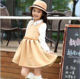 2015 Autumn Winter Children′s Apparel Girls Long-Sleeved Princess Shirt Dress