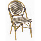 Aluminum Frame Wicker Bamboo Look Dining Chair (BC-08004)