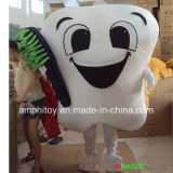 Tooth with Toothbrush Character Mascot Costume