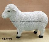 Resin White Sheep Lamb Animal Garden Statue Patio Ornament Sculptures Statue