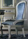 French Style Home Wooden Fabric Seating Chair (2703)