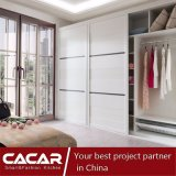 Simple White Wardrobe Closet for Bedroom Furniture with Wood Board