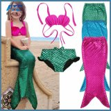 3PCS Kids Mermaid Tail Swimmable Swimwear Swimsuit Kids Bikini