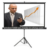 Portable Projector Projection Screen with Tripod Standing Agent Is Available