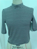 Cotton Sample Woman Stripe Top Blusas Mujer