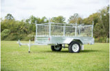 Fully Welded Hot DIP Galvanized 7X4 Box Trailer with Cage