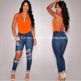 The New Hot Drilling Slim Thin Jeans Women Trousers