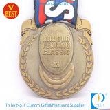 Custom Antique Brass 3D Zinc Alloy Metal Medal