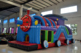 Outdoor Long Inflatable Train Obstacle Course Challenge for Kids (AQ01291-1)