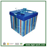 Hot Selling Blue Square Promotional Paper Chocolate Packaging Box