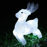 Outdoor Christmas Holiday Decoration LED Solar Deer Motif Acrylic Light