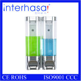Double Wall Mounted Chrome Plating Soap Dispenser