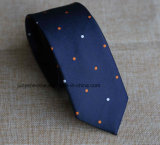 Poly Woven Dobby Necktie for in Navy