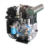 Naturally Aspirated Dual Two Double Dual 2 Cylinder Diesel Engine Motor High Speed for Water Pump Genset Power Generator with 16.5kw 22HP 3600rpm Model Twd292f