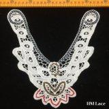 24*24cm Exquisite off White Lace Collar Trim Floral Necklace Bride Wedding Applique Cotton Collar Crochet Embroidery Neck Accessory Hm2022