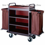 Wooden Housekeeping Cart for Hotel Guest Room Cleaning (SITTY 99.9803)