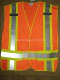 Hi Visibility Flu Colors Safety Vest with Velcro Sticky Tape