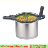 New Kitchenware Silicon Pasta Colander with Foldable Handle