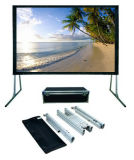 120 Inch 16: 9, Foldable Outdoor Portable Light Weight Front/Rear Projection Movie Screen