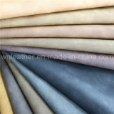 Nubuck PU Artificial Leather Fabric for Shoes Making