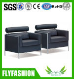 Single Modern Design Office Black Leather Sofa (of-22)