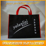 Black Tote Shopping Bag Offset Printing