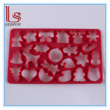 Christmas Eco-Friendly Plastic 22 Hole Three-Dimensional Cookie Mould 3D Biscuit Embossing 22 Shapes Mould