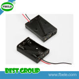 Black Plastic Battery Holder PCB with Wire