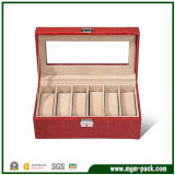 Red Custom Luxury Packing Wooden Watch Box