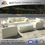 Well Furnir 5 Seater Sofa Set with Cushion in White WF-7405