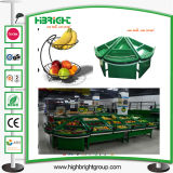 Acrylic Vegetable Fruit Display Rack Shelf for Supermarket
