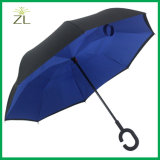 Hot Sale Double Layer C Shape Handle Inverted Umbrella