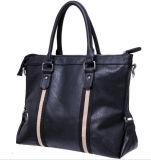 Black Mens Leather Laptop Bag