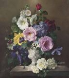 Flower Oil Painting on Canvas for Home Decoration (ECH-108)