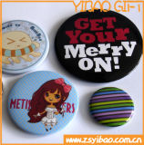 Customizable Button Badge/Tin Button Badge with Printed Logo for Promotion Gift (YB-SM-02)
