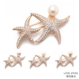 Big Gold Starfish Zircon Pearl Brooch Coat Brooch, Pin Crystal Brooch, Flower Brooch, Brooch Jewelry, Brooch Bouquet