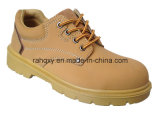 Yellow Nubuck Safety Shoes with Suede Tongue (HQ06006)