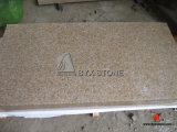 Natural Yellow Rusty Granite G682 Stone Tiles for Wall / Floor