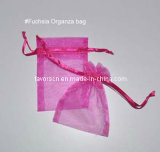 "5X7"" Fuchsia Sheer Organza Gift Bag"
