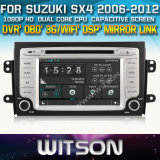 Witson Car DVD for Suzuki Sx4 2006-2012 Car DVD GPS 1080P DSP Capactive Screen WiFi 3G Front DVR Camera