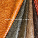Crocodile Pattern Semi-PU Furniture Leather (QDL-FS006)