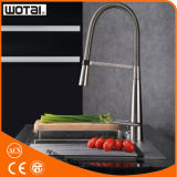 China Factory Brushed Nickel Finished Pull out Kitchen Faucet