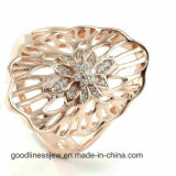 925 Texture Sterling Silver Women Jewelry Silver Ring (R9980)