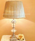 Clear Crystal Table Lamp/Desk Lamp with Fabric Shade Pd90208