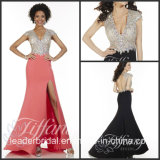 Fashion Vestidos Prom Party Gown Beading Slit Evening Dresses (LD11551)