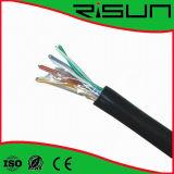 Ethernet Cat 5e; Outdoor, Direct Burial, Gel Filled, 1000ft Bulk. UTP Solid Copper Cable