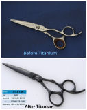 Japanese Steel Colored Barber Scissors (T-55TBK)