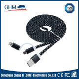 Manufacturer Supply Nylon Braided Data Cable (TUV) for iPhone